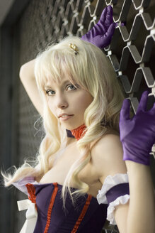 Portrait of female cosplayer wearing corsage - AFF000038