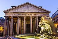Italy, Rome, Illuminated Pantheon at night - EJWF000354