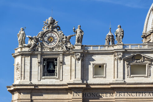 Italy, Rome, Front of Carlo Maderno at St. Peter's Basilica - EJWF000363