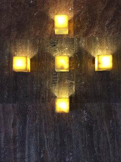 lanterns on a wall, Bilbao, Spain - FLF000406