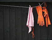 Clothesline with rubber gloves and dishrag - JBF000079