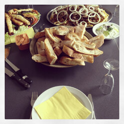 Party buffet with bread and oriental appetizers - EVGF000461