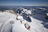 Switzerland, Canton of Appenzell Ausserrhoden, mountain inns at Saentis, in the background Appenzell Alps - ELF000917