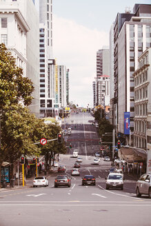 New Zealand, Auckland, view of street - WV000475
