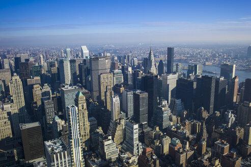 USA, New York, Manhattan, view to  skyline from above - JWAF000004