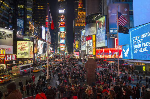 USA, New York, Manhattan,view to Times Square by night - JWAF000008