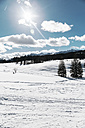 Germany, Bavaria, Winklmoosalm, Sunny day in the snow - MF000952
