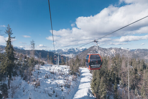 Germany, Bavaria, Winklmoosalm, Ski lift - MF000946