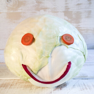 Cabbage as Smiley - DRF000612