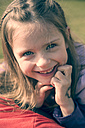 Portrait of smiling little girl - SARF000419