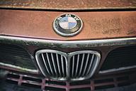 Radiator grille and logo of vintage car BMW E3 - EL000922