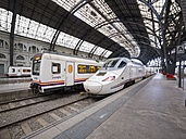 Spain, Barcelona, Barcelona Franca railway station, train - AM002050