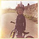 Germany, Baden-Wuerrtemberg, little girl with impeller - LVF000944