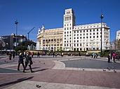 Spain, Catalonia, Barcelona, Placa de Catalunya, Banco Espanol de Credito - AM002084