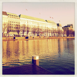 Inner Alster Lake and Hotel Four Seasons, Hamburg, Germany - MSF003627