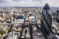 United Kingdom, England, London, The Gherkin and cityscape - THA000197