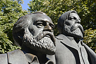 Germany, Berlin, part of Marx-Engels-Monument - BFR000401