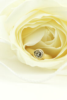 One carat diamond gold ring in rose blossom - JAWF000024