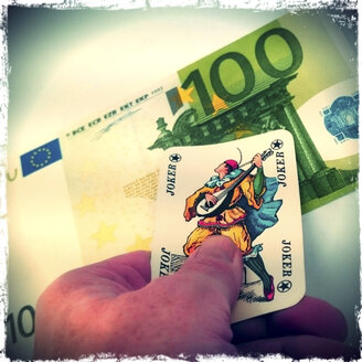 Money or joker, concept - HOHF000669