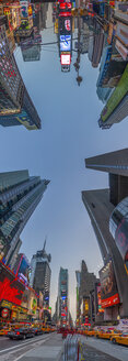USA, New York State, New York City, View of the Times Square, 360 degree panorama - NKF000090