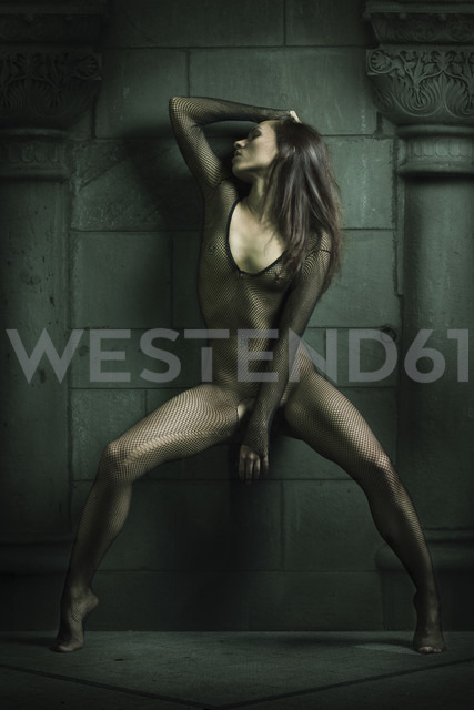 Young woman wearing bodystocking - CvK000053