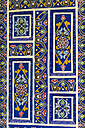 Morocco, Marrakesh-Tensift-El Haouz, detail of painted door in hotel - THA000217