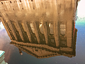 Germany, Berlin, reflection of Pergamon muesum in Spree - FBF000329