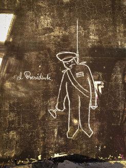 Germany, Berlin, Treptow, el presidente graffiti - FB000322