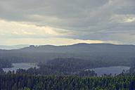 Sweden, Orsa, view from mountain Groenklitt to Oestra Raedsjoen - BR000284