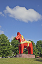 Sweden, Mora, World's largest Dalecarlian horse - BR000367
