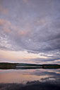 Sweden, Stroemsund, Sunset at a lake - BR000430