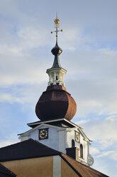 Sweden, Leksand, Bulbous spire of the church - BR000328