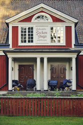 Sweden, Leksand, Kindergarden in a typical wooden house - BR000313