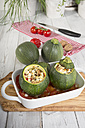 Baked eight ball squashes in a gratin dish, Low Carb - CSTF000233