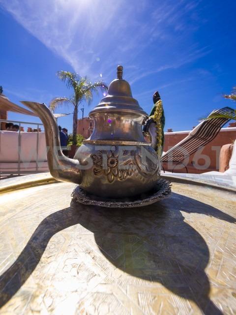 Morocco, Marrakesh-Tensift-El Haouz, moroccan teapot - AM002113