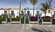 Spain, Canary Islands, Gran Canaria, Houses at Puerto de Mogan - AMF002150