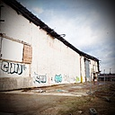 Partly demolished warehouse in Hamburg, germany - NKF000092