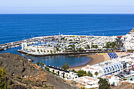 Spain, Canary Islands, Gran Canaria, Mogan, View to Port de Mogan - AMF002139