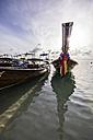 Thailand, Koh Phi Phi Don, Fishing boats at beach - THA000260