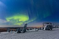 Scandinavia, Finland, Kittilae, Polar lights, Aurora borealis - SR000525