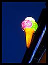 Ice cream cone sign, ice cream parlor, Germany - CSF021244