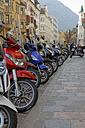 Italy, Alto Adige, Bolzano, Row of bikes in the street - GF000430