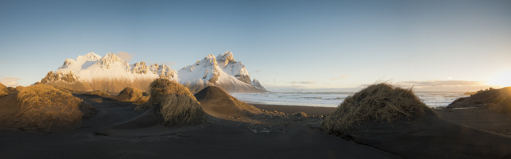 Iceland, Black sandy beach of Stokksnes - STCF000031