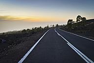 Spain, Canary Islands, Teneriffe, Empty road - STCF000050