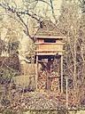 Germany, Bavaria, Ottobrunn, tree house in the garden - BRF000227