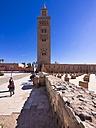 Morocco, Marrakesh-Tensift-El Haouz, Marrakesh, Koutoubia Mosque, Minaret - AM002188