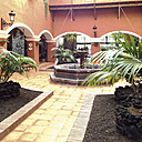 Courtyard at the Hotel Princess, La Palma, Canary Islands, Spain - SE000687