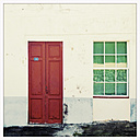 Facade, entrance, San Andres, La Palma, Canary Islands, Spain - SEF000684
