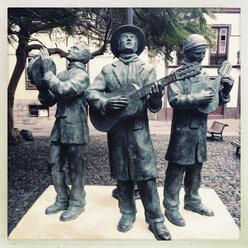 Three musicians in the old town of Santa Cruz, Santa Cruz, La Palma, Canary Islands, Spain - SEF000660