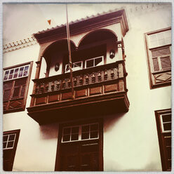 House facade in Cruz de La Palma, Canary Islands, Spain - SEF000655